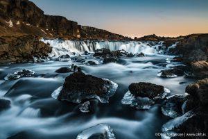 Capturing Winter waterfall