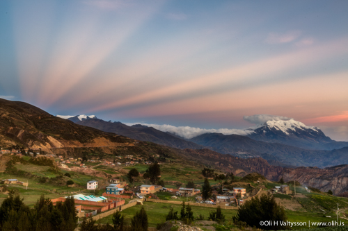 Bolivia Photography Workshop - Sunset behind the mountain of La Paz