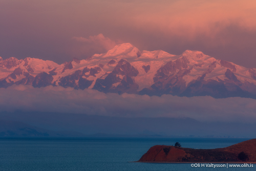 Lake Titicaca, captured on our Bolivia Photo Tour. Copacabana has spectacular sunsets.