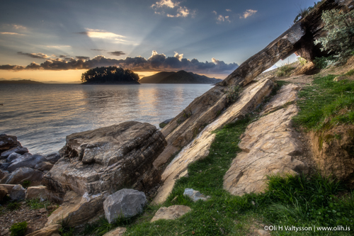 Photo Workshop in Bolivia - sunrise at Isla del Sol.