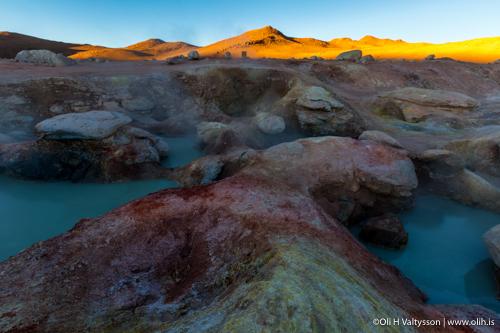 Sol De Manana Geysers in Bolivia