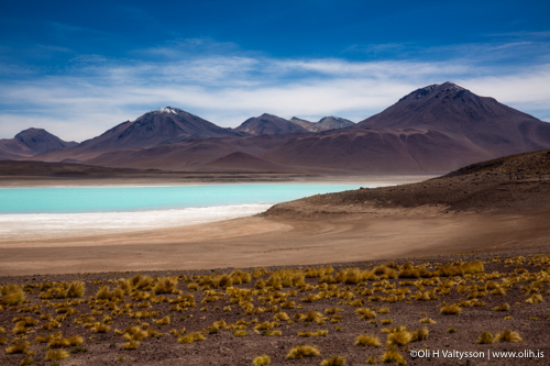 Laguna Verde with volcanos - Enroute Photography Workshop in Bolivia