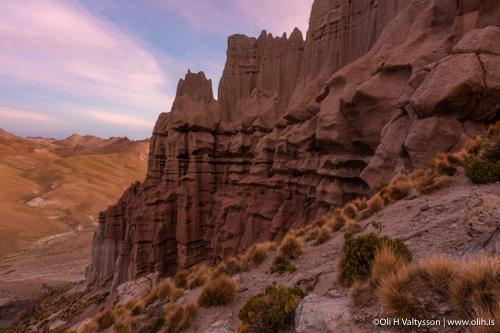 Terrific cliffs of Castillo Quemado