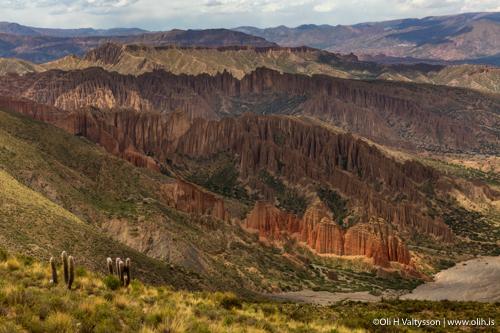 El sillar rock formations inTupiza, Bolivia