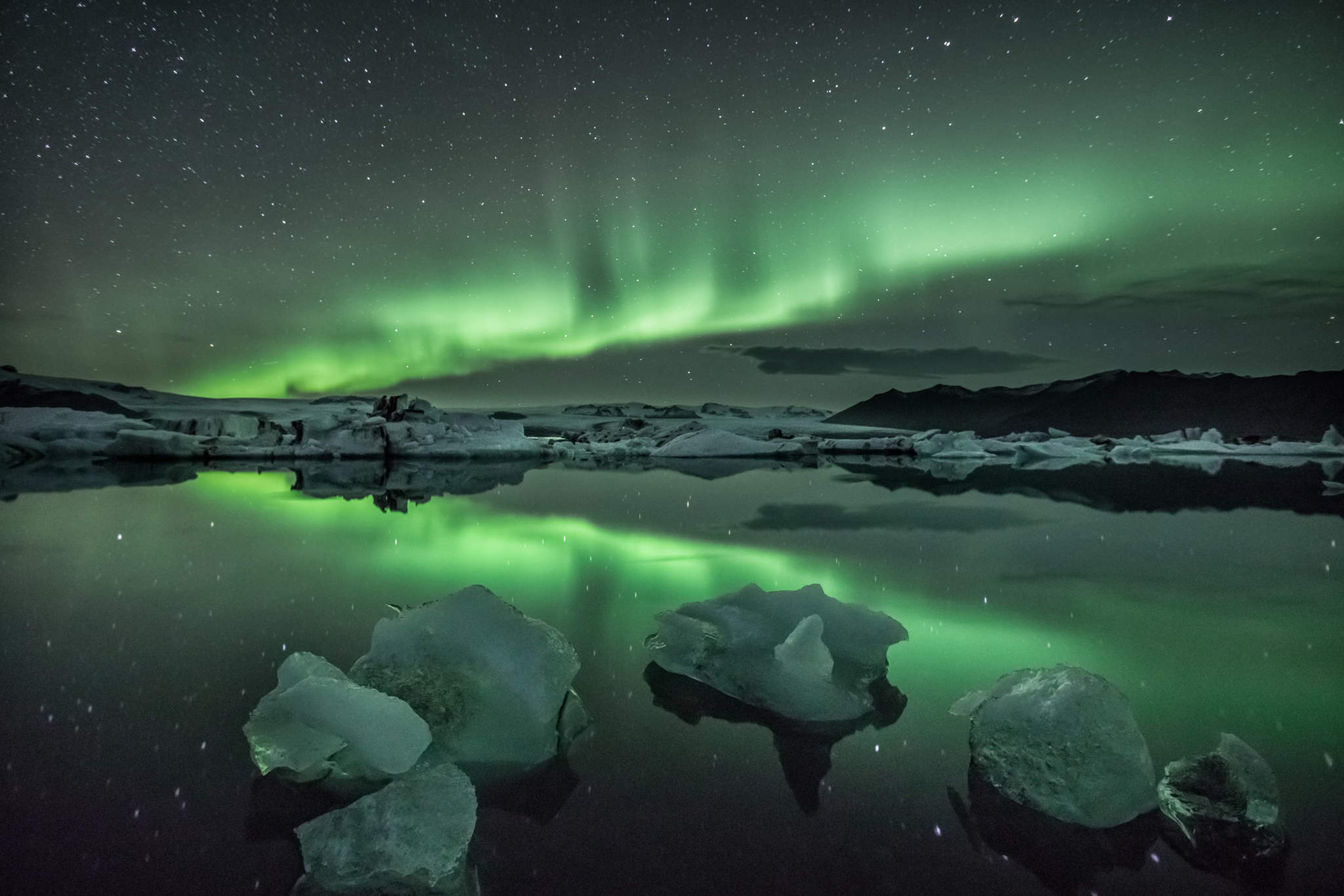 Northern lights - Glacier Lagoon